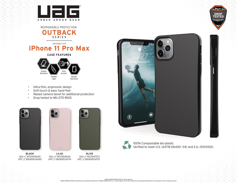 Ốp lưng iPhone 11 Pro Max UAG Biodegradable Outback