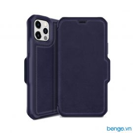 Bao da iPhone 12/12 Pro ITSKINS Hybrid // Folio Leather Antimicrobial