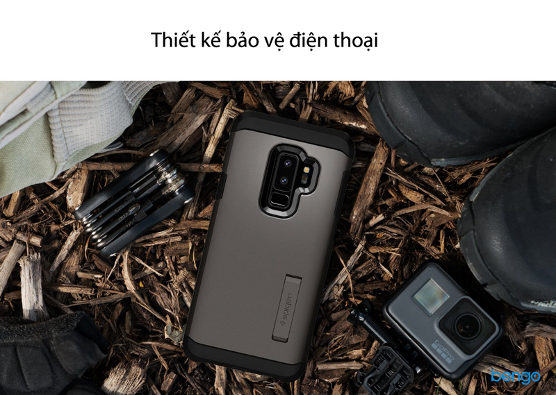 Ốp lưng Samsung Galaxy S9 Plus SPIGEN Tough Armor - Black