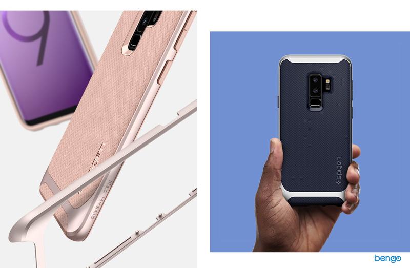 Ốp lưng Samsung Galaxy S9 Plus Spigen Neo Hybrid - Arctic Silver