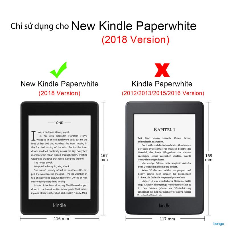 Bao da New Kindle PaperWhite 2018 Họa tiết hoa văn