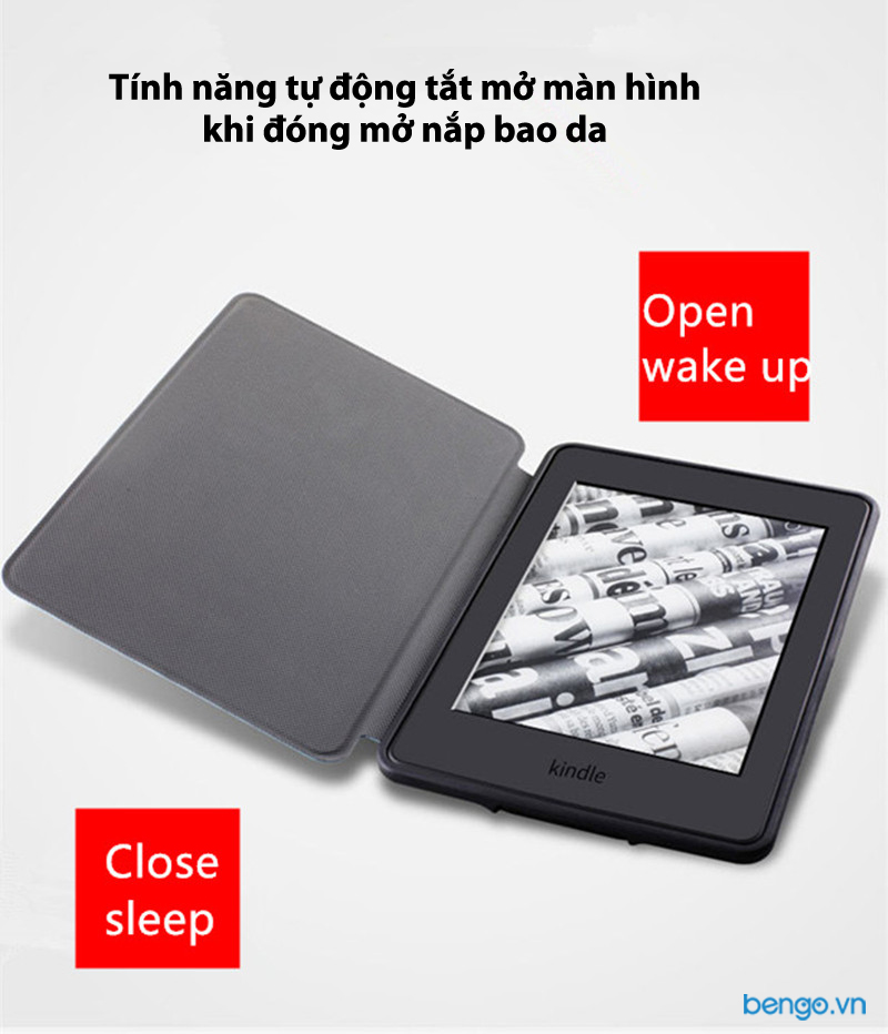 Bao da Kindle Paperwhite 2018 thế hệ 4 (10th) Họa tiết Well Begun is Half Done