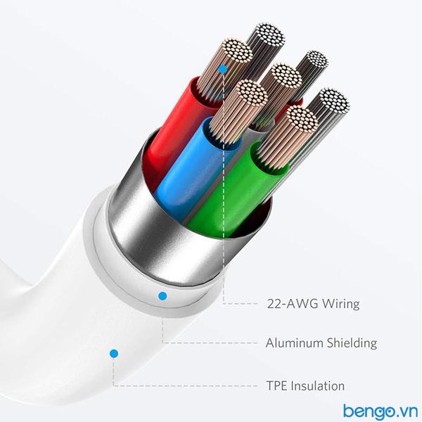 Cáp điện thoại Anker PowerLine Select Lightning to USB-C MFi dài 0.9m - A8612