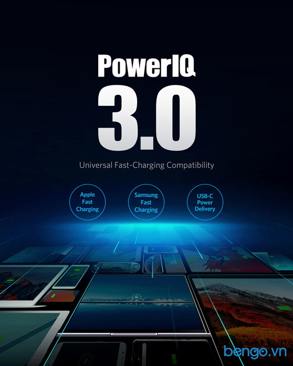 Sạc Anker PowerPort III Duo 36W (2 PIQ 3.0) - A2628