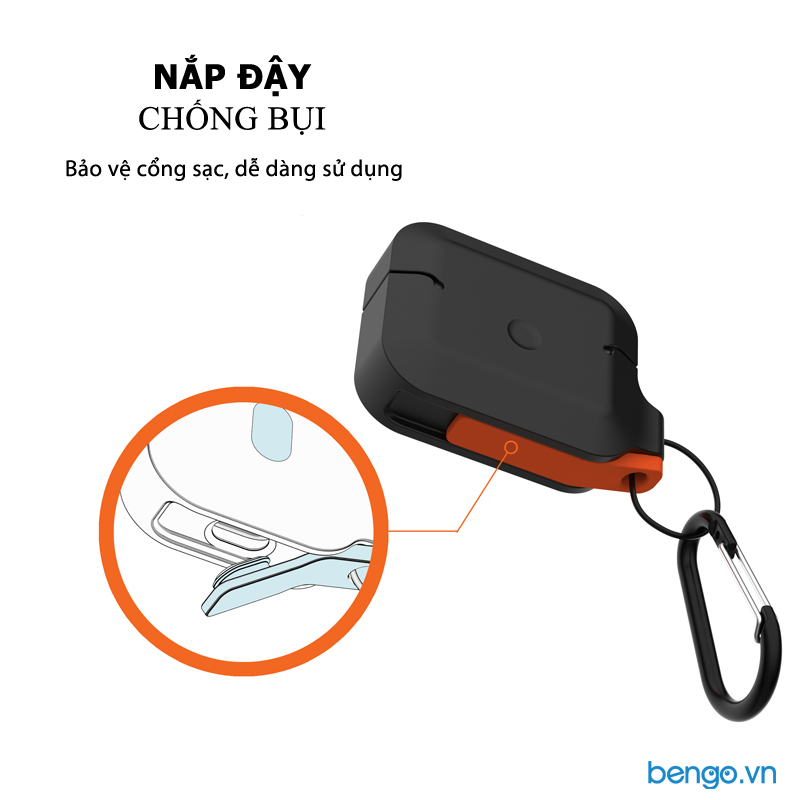 Vỏ Ốp Airpods Pro UAG Silicone Rugged Weatherproof