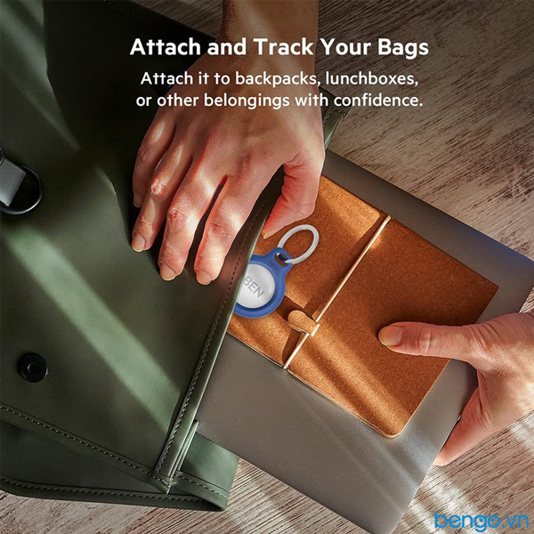 Vỏ bảo vệ Apple Airtag Belkin Secure Holder kèm móc gắn chìa khóa
