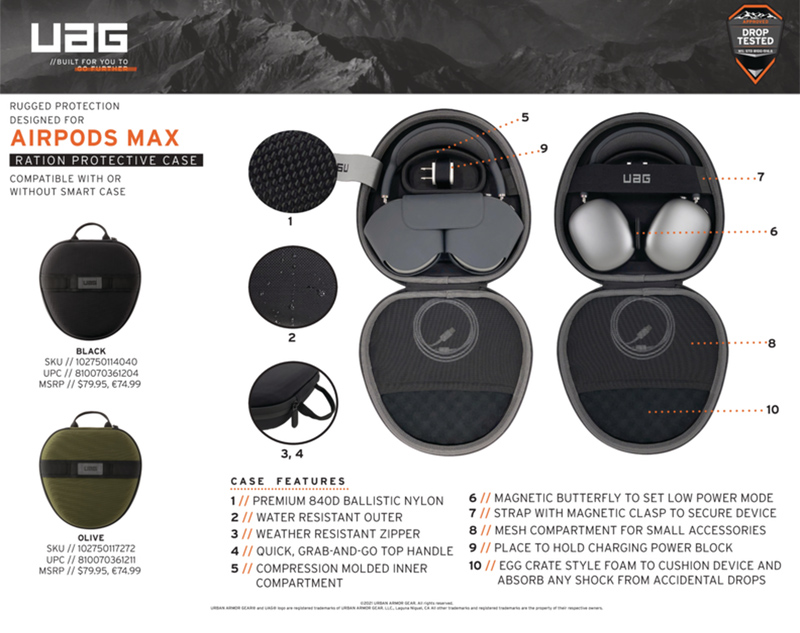 Ốp UAG Ration Protective cho Airpods Max