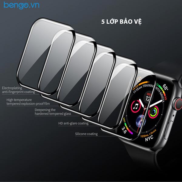 Dán cường lực Apple Watch Nillkin 3D AW+ Full màn hình
