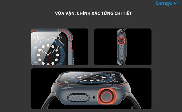 Ốp Apple Watch 6/SE/5/4 NILLKIN CrashBumper case kèm dán cường lực