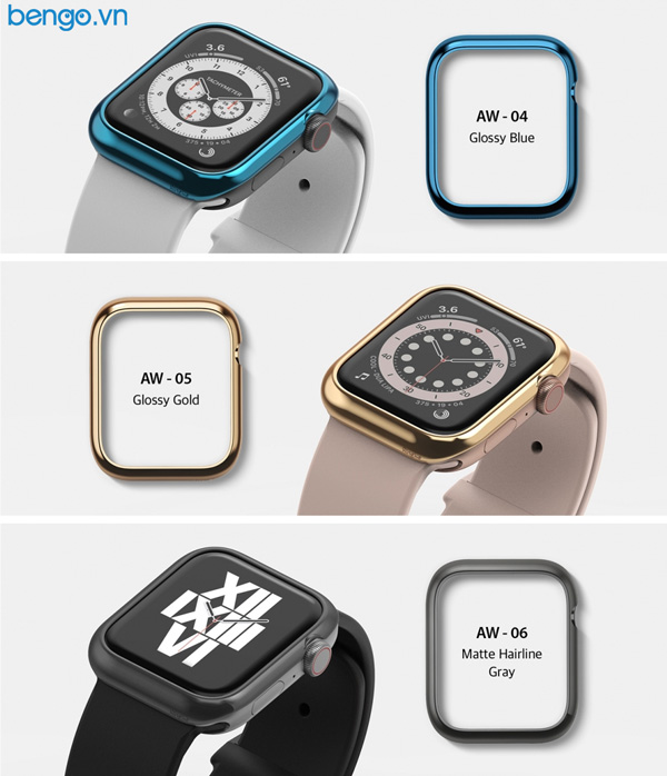 Viền Apple Watch 6/SE/5/4 44mm RINGKE Bezel Styling Stainless