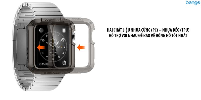 Ốp Apple Watch Series 3/2/1 42mm SPIGEN Tough Armor
