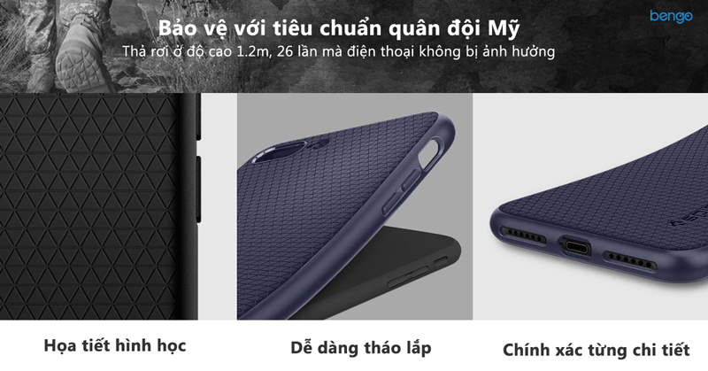 Ốp lưng iPhone 8/7 Plus SPIGEN Liquid Air Armor
