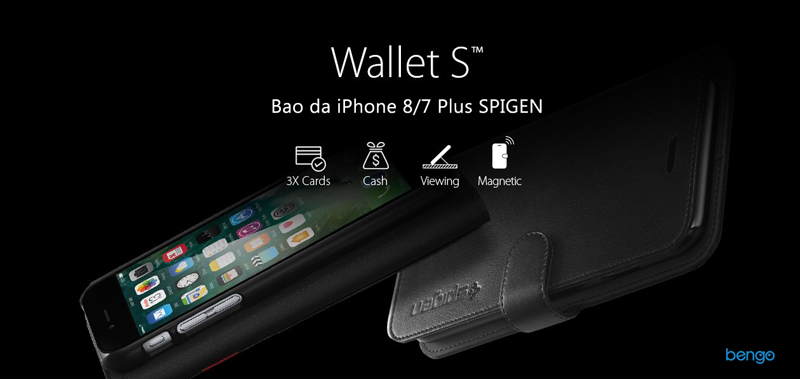 Bao da iPhone 8/7 Plus SPIGEN Wallet S