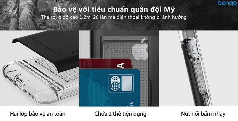 Ốp lưng iPhone 8/7 Plus SPIGEN Crystal Wallet
