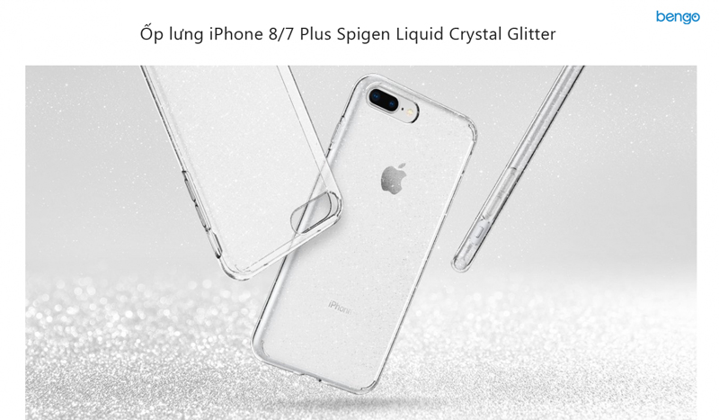 Ốp lưng iPhone 8/7 Plus Spigen Liquid Crystal Glitter