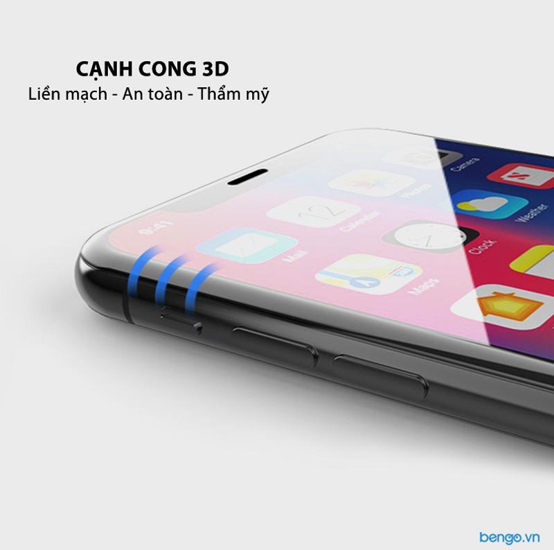 Dán cường lực iPhone Xs Max Full 3D MIPOW KING BULL