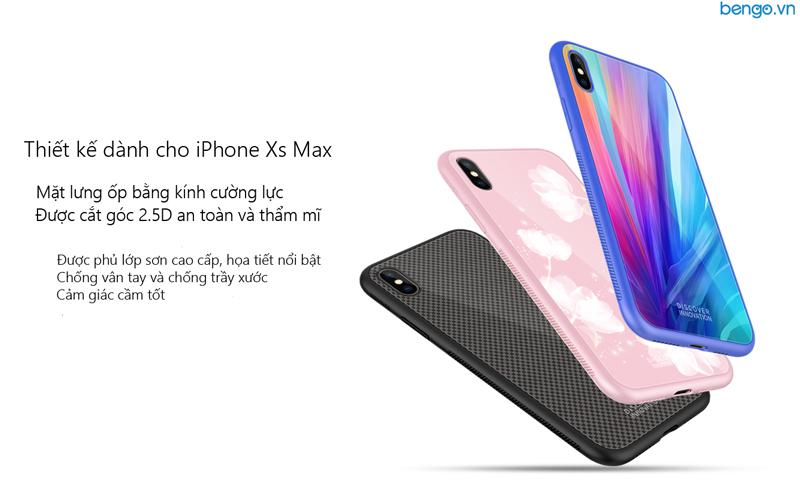 Hộp quà tặng sạc không dåy + ốp lưng + cáp Nillkin cho iPhone Xs Max