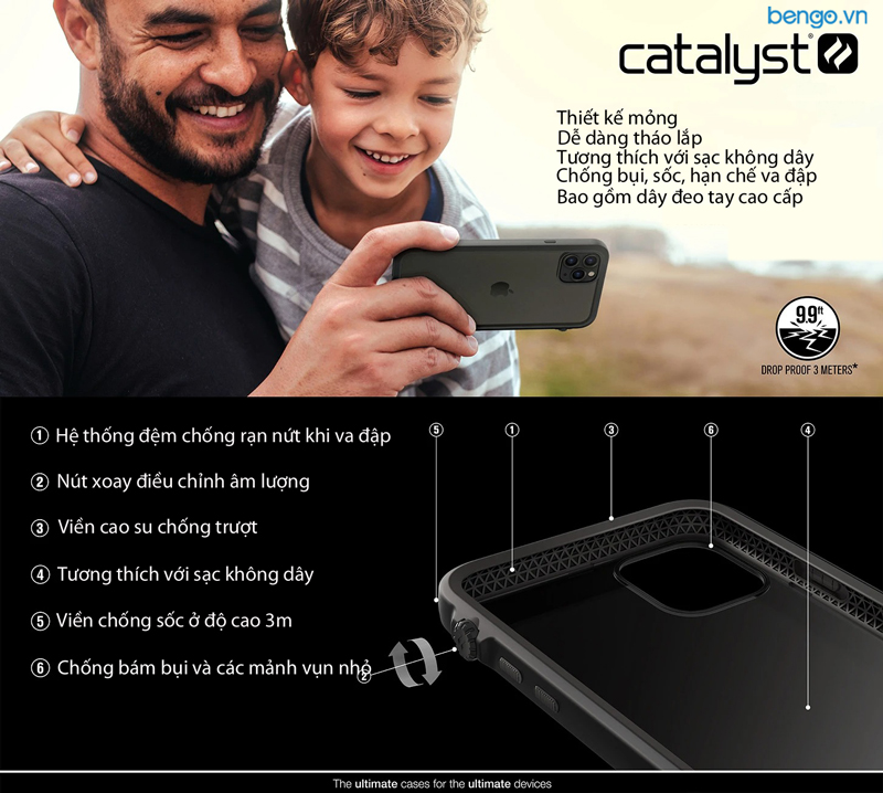 Ốp lưng iPhone 11 Pro Max Catalyst Impact Protection