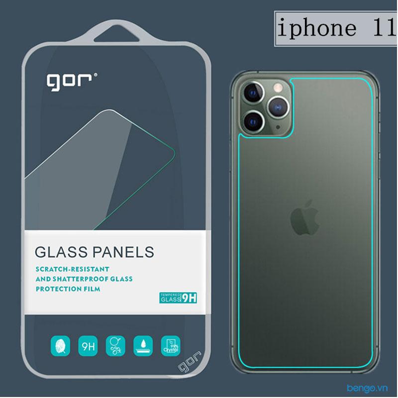 Dán cường lực mặt lưng iPhone 11 GOR (Hộp 2 miếng)
