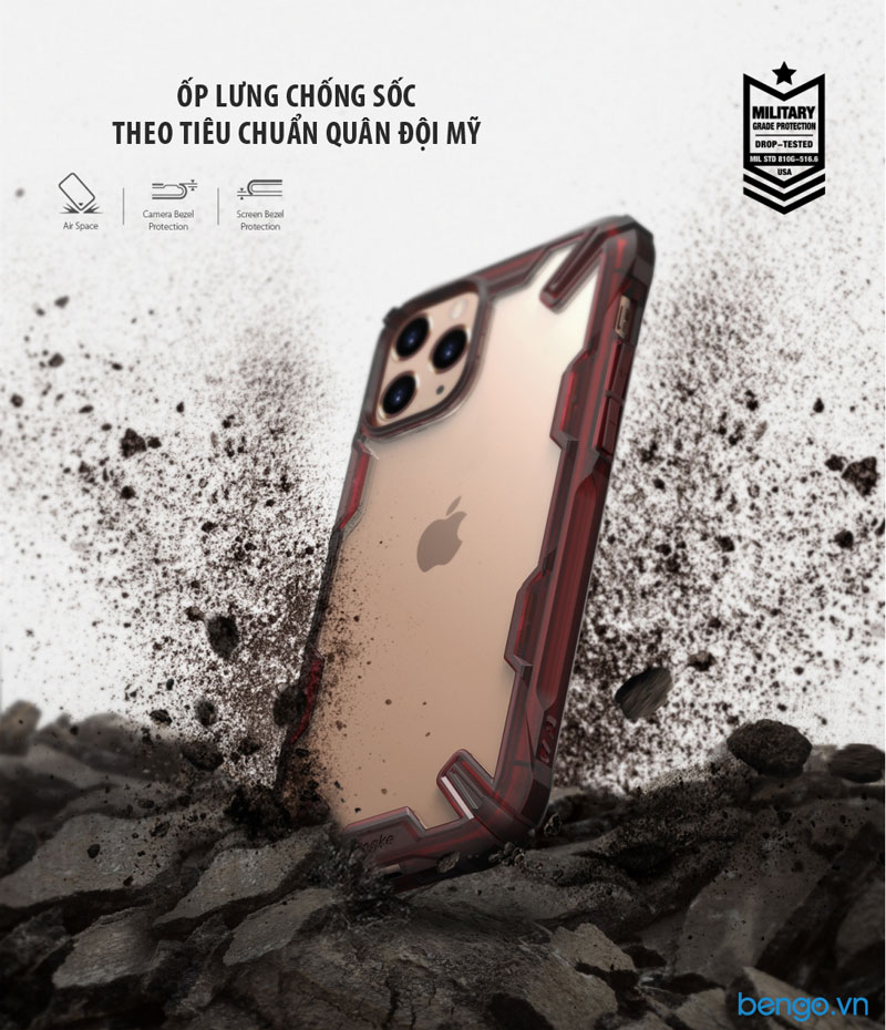 Ốp lưng iPhone 11 Pro Max RINGKE Fusion X