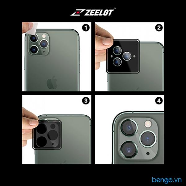 Dán cường lực bảo vệ camera iPhone 11/ 11 Pro/ 11 Pro Max Zeelot Clear