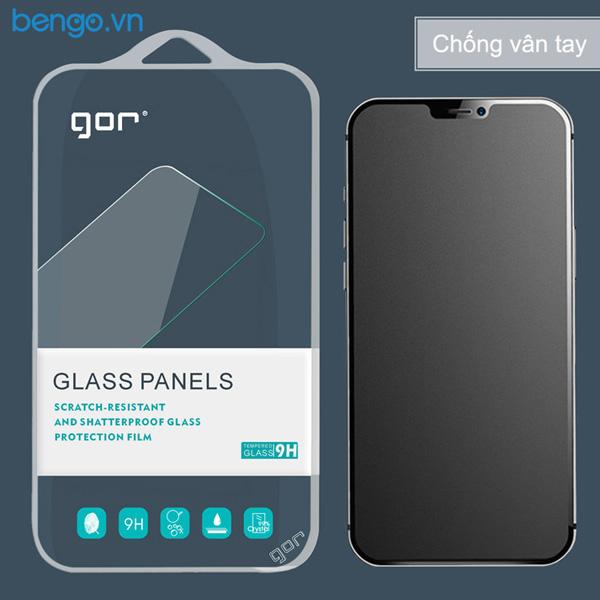 Dán cường lực màn hình + Mặt lưng + Viền vân carbon iPhone 12 Pro Max GOR Full chống vân tay