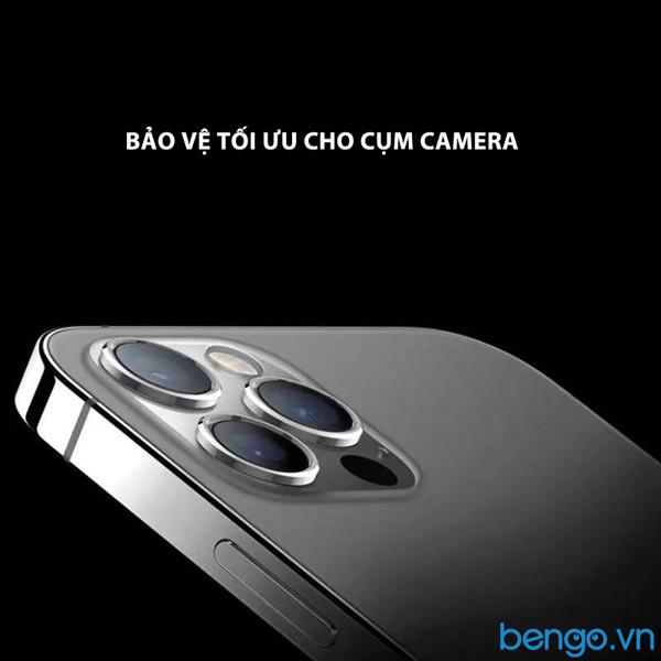 Dán cường lực bảo vệ camera iPhone 12 Pro MIPOW Alumium viền màu