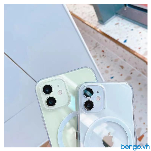 Ốp lưng iPhone 12/12 Pro/12 Pro Max/12 Mini Mipow Magsafe Tempered Glass Clear