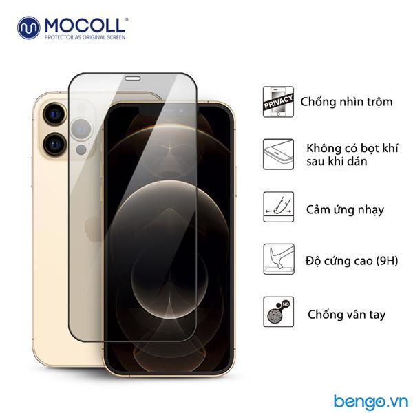 Dán màn hình cường lực iPhone 12 Mini/12 Pro/12 Pro Max MOCOLL chống nhìn trộm