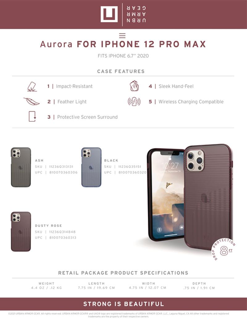 [U] Ốp lưng UAG Aurora iPhone 12 Pro Max