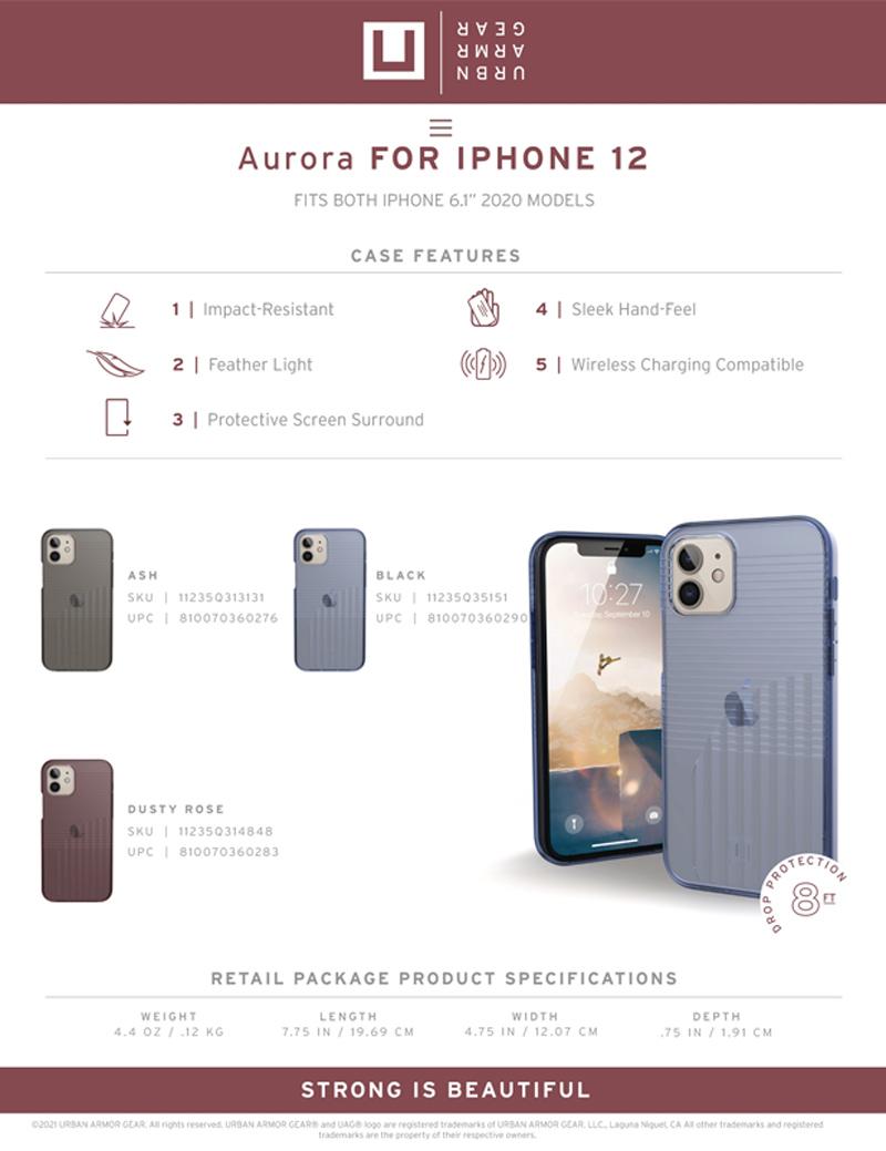 [U] Ốp lưng UAG Aurora iPhone 12/iPhone 12 Pro