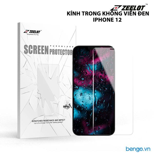 Dán cường lực iPhone 12 Pro Max/iPhone 12 Pro/iPhone 12/iPhone 12 Mini Zeelot PureGlass HD Clear