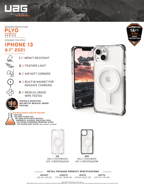 Ốp lưng iPhone 13 UAG Plyo with MagSafe Series