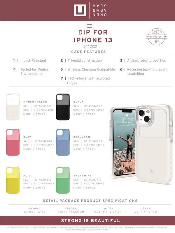 [U] Ốp lưng iPhone 13 UAG Dip Series