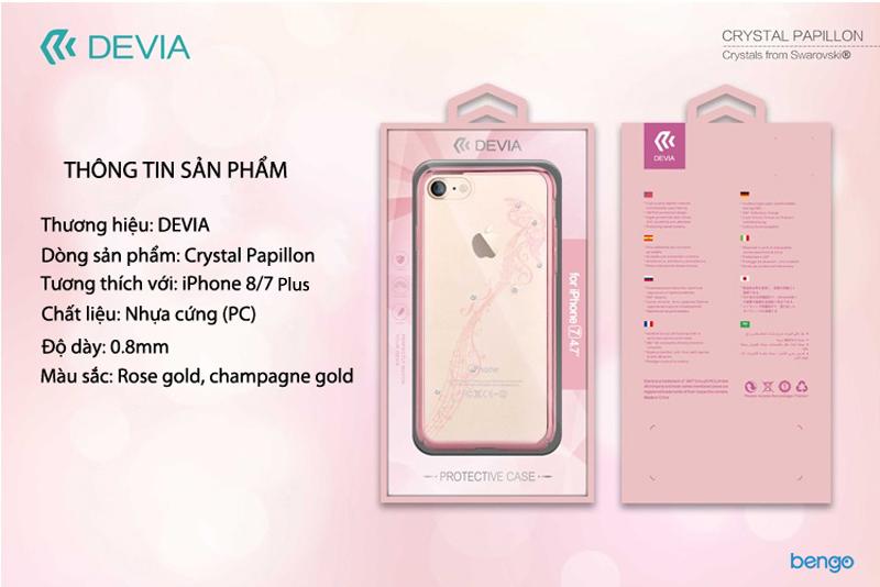 Ốp lưng iPhone 8/7 Plus DEVIA Crystal Papillon