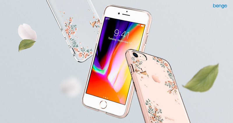 Ốp lưng iPhone 8/7 SPIGEN Liquid Crystal Blossom