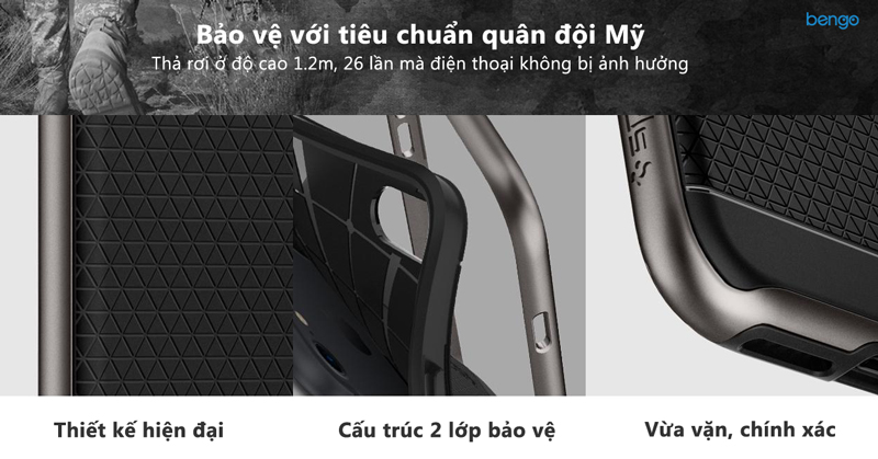 ốp lưng iphone 8/7 spigen neo hybrid 2 - satin silver