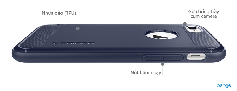 Ốp lưng iPhone X SPIGEN Rugged Armor Ốp lưng iPhone 8/7 SPIGEN Rugged Armor