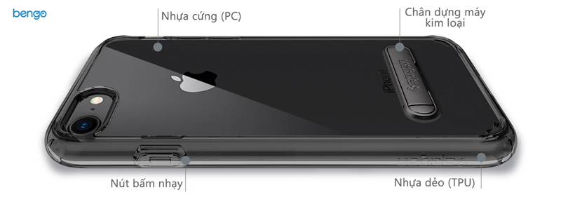 Ốp lưng iPhone 8/7 SPIGEN Ultra Hybrid S