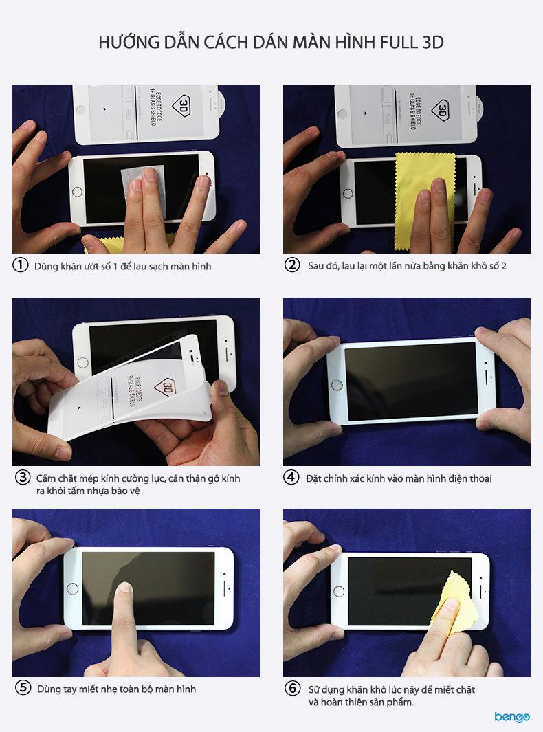 Dán màn hình cường lựciPhone X 3D Full màn hình