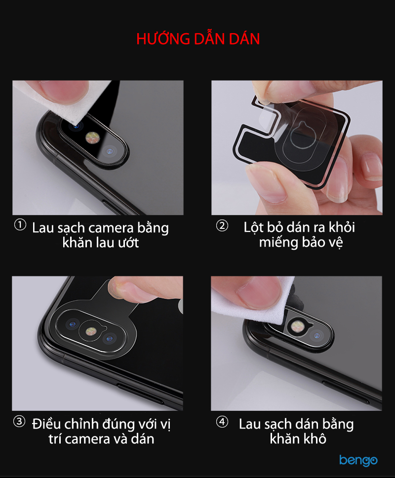 Dán cường lực camera iPhone X