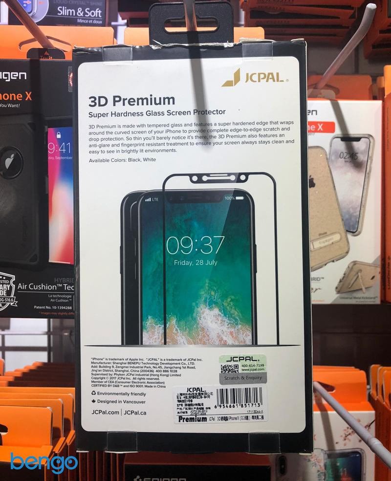 Dan man hinh cuong luc full man hinh iPhone X JCPAL 3D Premium