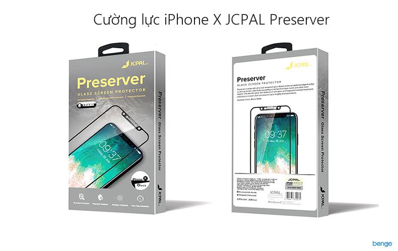 Dán cường lực iPhone X JCPAL Presever