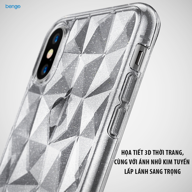 Ốp lưng iPhone X RINGKE Air Prism Glitter