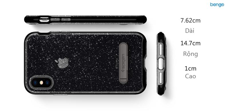 Ốp lưng iPhone X SPIGEN Crystal Hybrid Glitter