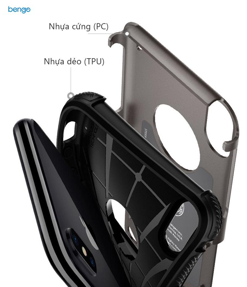 Ốp lưng iPhone X SPIGEN Hybrid Armor