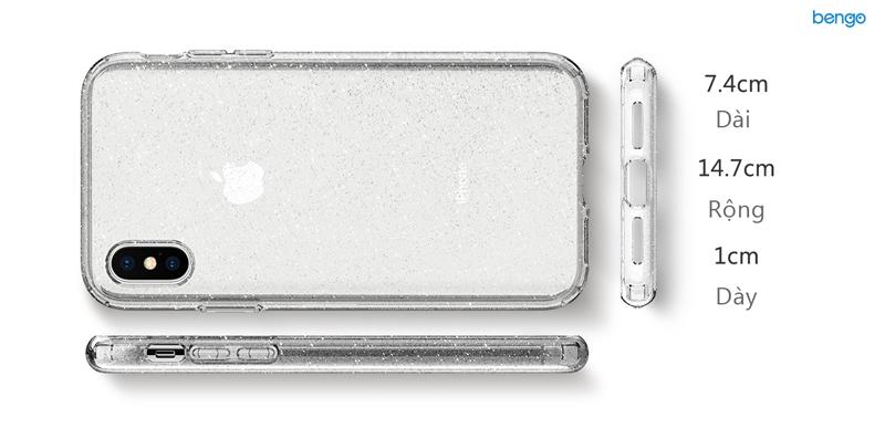 Ốp lưng iPhone X SPIGEN Liquid Crystal Glitter