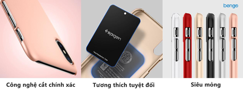 Ốp lưng iPhone X SPIGEN Thin Fit