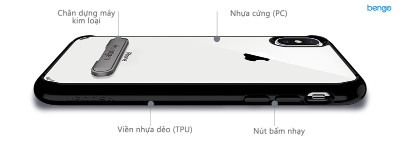 Ốp lưng iPhone X SPIGEN Ultra Hybrid S