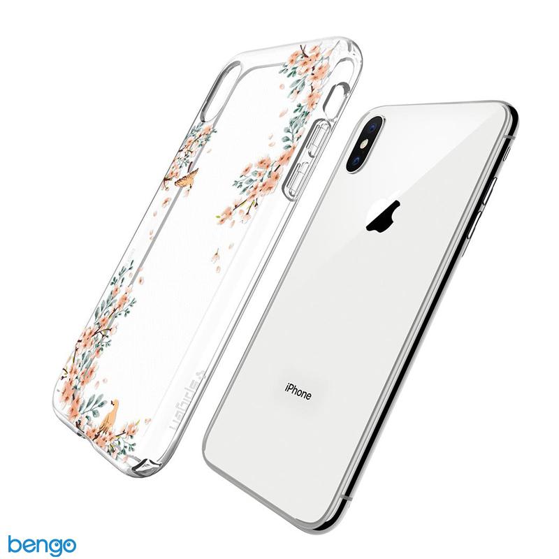 Ốp lưng iPhone X SPIGEN Liquid Crystal Blossom Natural
